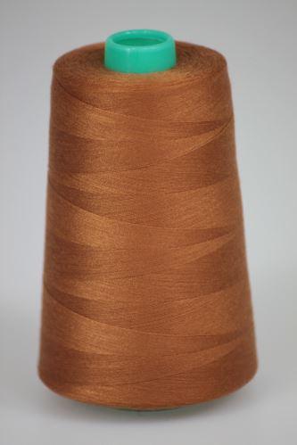 Niť KORALLI polyesterová 120, 5000, odtieň 8240, hnedá