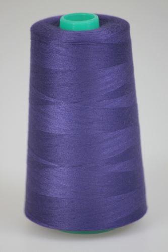 Niť KORALLI polyesterová 120, 5000Y, odtieň 4760, fialová-modrá