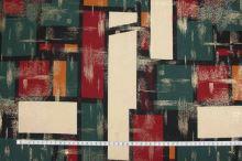 Úplet barevný 12896 vzor obdélníky, š.145