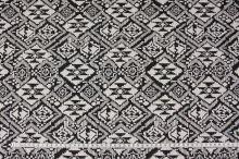 Úplet N3436 krémovo-čierny vzor, š.150