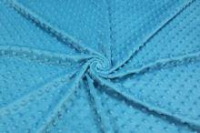Minky modré, protlačované ťuplíky, š.150