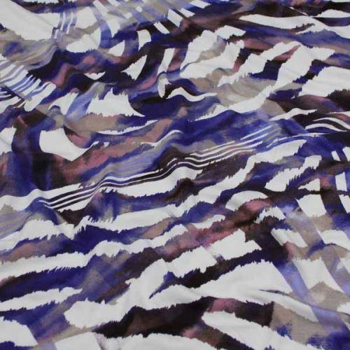 Úplet krémový, fialový vzor 15854, š.145