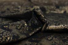Šatovka N0080 čierna, tmavý tlač, š.145