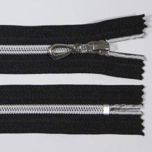 Zips špirálový 6mm dĺžka 12cm, farba 332 (nedeliteľný) so striebornými zúbkami