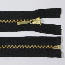 Zips kovový 4mm mosadz dĺžka 55cm, farba 332 (deliteľný)