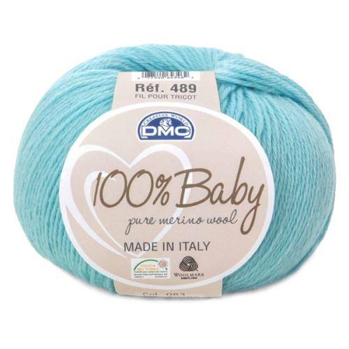 Příze 100% BABY 50g, světle modrá - odstín 083