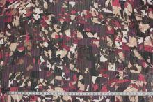 Šifón bordó, farebný vzor, š.150