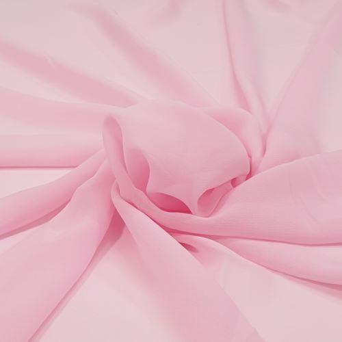 Šifon světle růžový P0119, š.150
