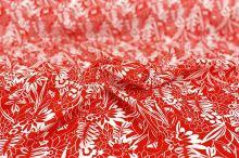 Šatovka 19702 červená, bílý vzor, š.140