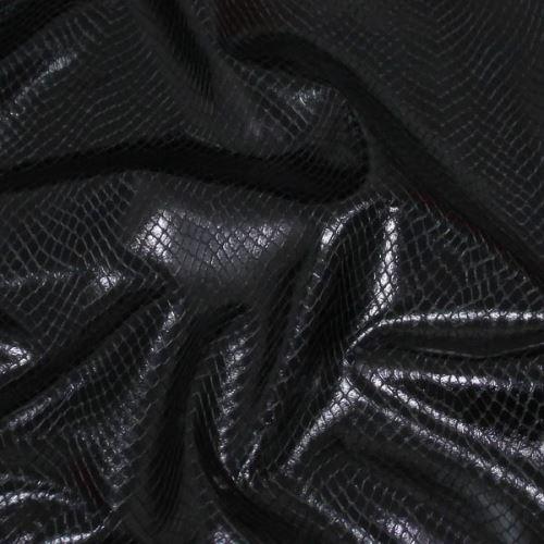 Koženka černá, hadí vzor, š.145