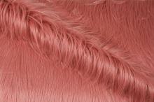 Umělá kožešina růžová s dlouhým vlasem, š.155