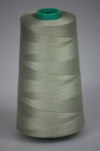 Niť KORALLI polyesterová 120, 5000, odtieň 7120, béžová-zelená