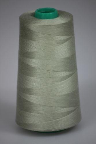 Niť KORALLI polyesterová 120, 5000Y, odtieň 7120, béžová-zelená
