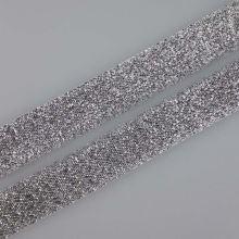 Stuha lurexová stříbrná šíře, 15mm
