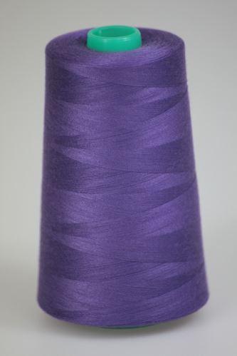 Niť KORALLI polyesterová 120, 5000Y, odtieň 4240, fialová