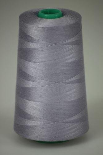 Niť KORALLI polyesterová 120, 5000Y, odtieň 4130, šedá