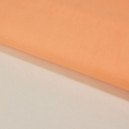 Tyl závojový světle oranžový, š.180