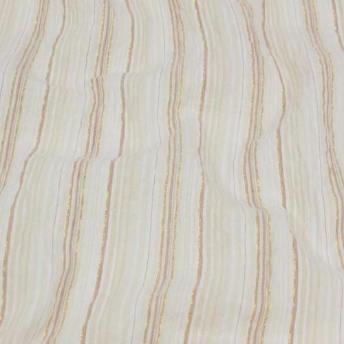 Košilovina béžová, zlatý lurex š.135