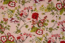 Šatovka 21644 růžová, barevné květy, š.140