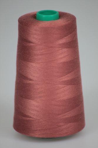 Niť KORALLI polyesterová 120, 5000Y, odtieň 2360, hnedá-ružová