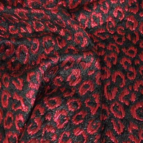 Kostýmovka čierna, červený vzor š.120