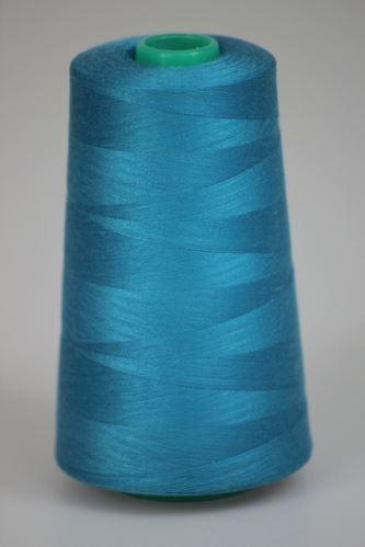 Niť KORALLI polyesterová 120, 5000, odtieň 5270, modrá