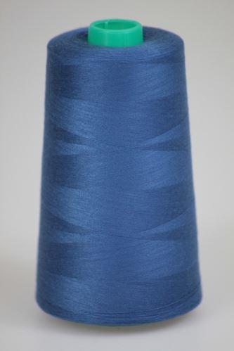 Nit KORALLI polyesterová 120, 5000Y, odstín 5545, modrá
