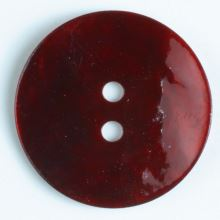 Knoflík perleťový tmavě červený 241115, 13mm