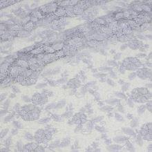 Čipka lila s ozdobným okrajom, flitre, š.130