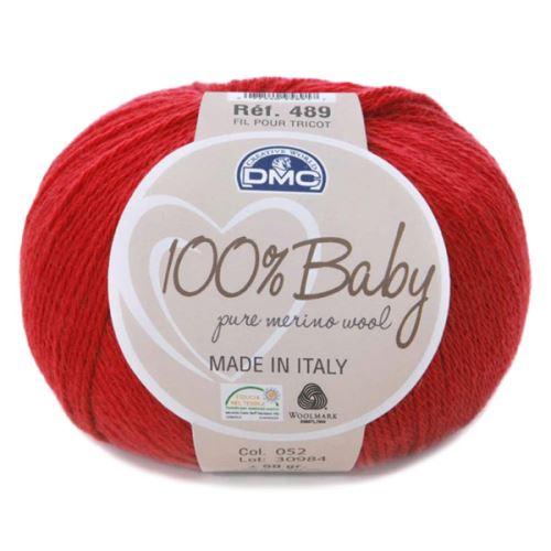 Příze 100% BABY 50g, červená - odstín 05