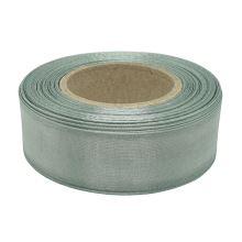 Stuha monofilová s vlascem šedá, šíře 25mm, 25m