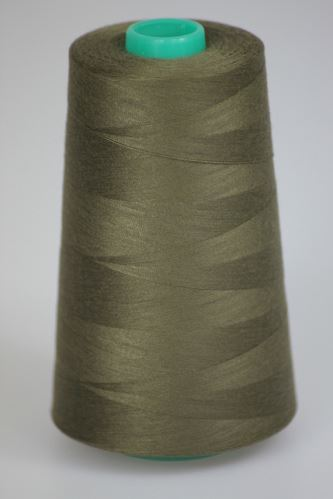 Nit KORALLI polyesterová 120, 5000Y, odstín 6930, hnědá-zelená