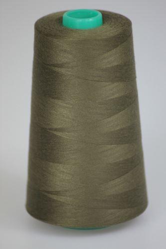 Niť KORALLI polyesterová 120, 5000Y, odtieň 6930, hnedá-zelená
