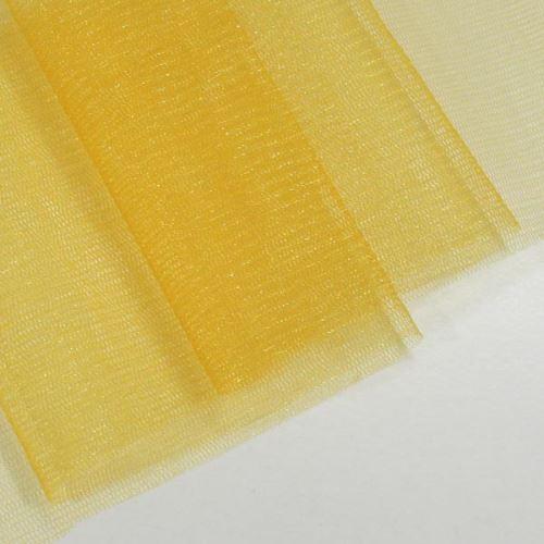 Tyl lesklý N3242, tmavě žlutý š.155