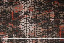 Bavlna hnedo-béžová, hadí vzor, š.145