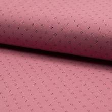 Úplet růžové piké, tečky, š.160