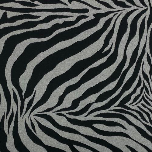 Dekoračná látka šedo-čierna zebra, š.275