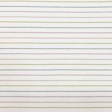 Úplet 20352 bílý, barevné lurexové pruhy, š.150