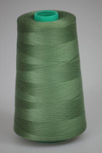 Niť KORALLI polyesterová 120, 5000Y, odtieň 6350, zelená