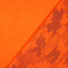 Softshell oranžový neón, reflexný vzor, š.145