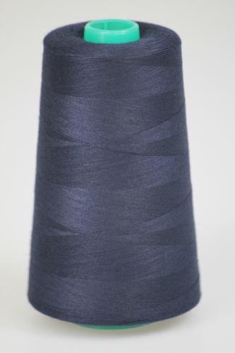 Niť KORALLI polyesterová 120, 5000Y, odtieň 5675, modrá