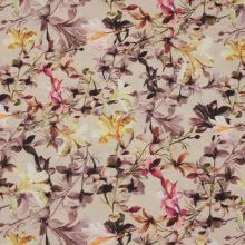 Dekorační látka, barevný květ, š.140