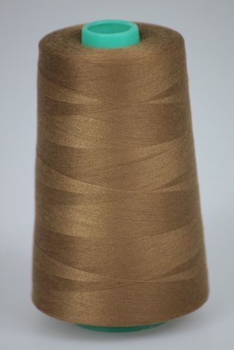 Nit KORALLI polyesterová 120, 5000Y, odstín 8255, béžová-hnědá