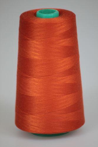 Niť KORALLI polyesterová 120, 5000Y, odtieň 2280, oranžová-hnedá
