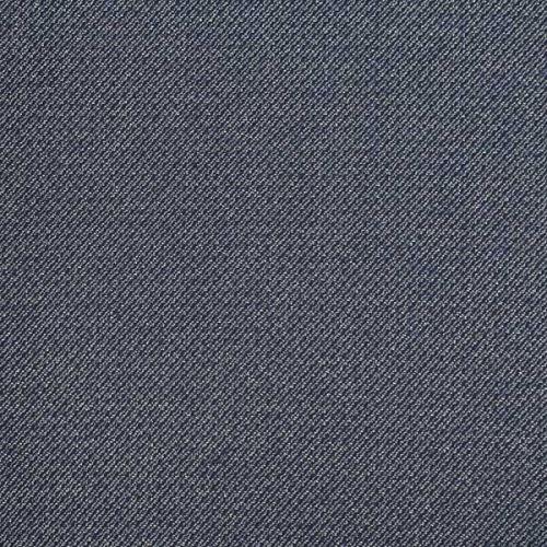 Kostýmovka šedo-modrá, diagonálny vzor, š.150