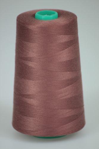 Niť KORALLI polyesterová 120, 5000, odtieň 2740, hnedá