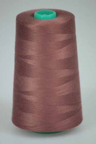 Niť KORALLI polyesterová 120, 5000Y, odtieň 2740, hnedá