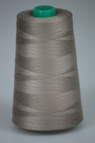 Nit KORALLI polyesterová 120, 5000Y, odstín 4820, béžová-hnědá