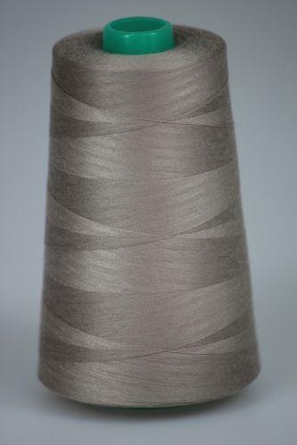 Niť KORALLI polyesterová 120, 5000Y, odtieň 4820, béžová-hnedá