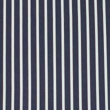 Bavlna denim, šedo-bílo-mintový pruh, š.150